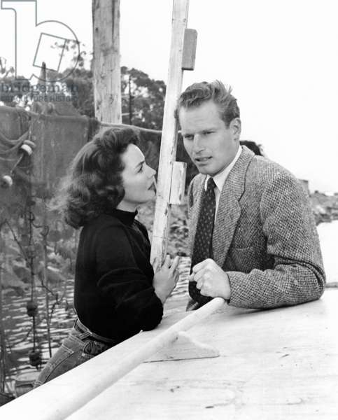 Jennifer Jones; Charlton Heston in RUBY GENTRY 1952