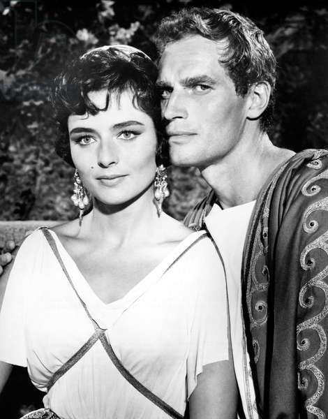 Marina Berti And Charlton Heston, Ben-Hur 1959 Directed By Wiiliam Wyler