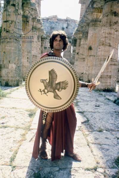CLASH OF THE TITANS, 1981 directed by DESMOND DAVIS Harry Hamlin is Perseus (photo)