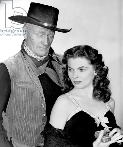 John Wayne And Joanne Dru