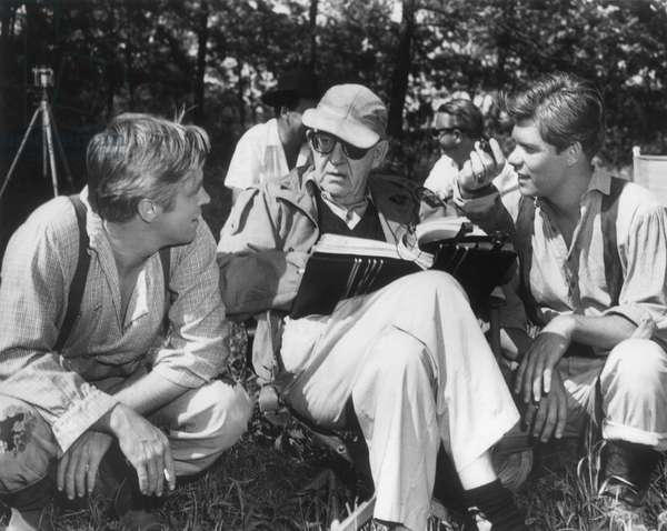 On The Set, John Ford With George Peppard.