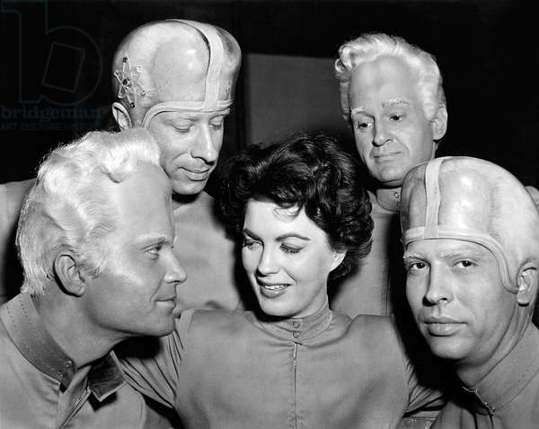 Jeff Morrow And Faith Domergue, This Island Earth 1955 Directed By Joseph Newman