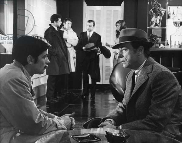 Alain Delon And Yves Montand, Le Cercle Rouge 1970 Directed By Jean-Pierre Melville