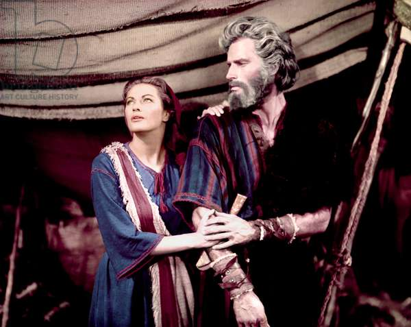 Yvonne De Carlo And Charlton Heston, The Ten Commandments 1956 Directed By Cecil B. Demille