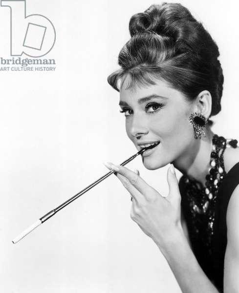 Audrey Hepburn in 'Breakfast at Tiffany's, 1961 (b/w photo)