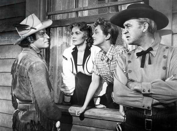 Charlton Heston, Rhonda Fleming, Jan Sterling And Forrest Tucker.