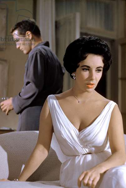 Elizabeth Taylor and Paul Newman in 'Cat on a Hot Tin Roof', directed by Richard Brooks, 1958 (photo)
