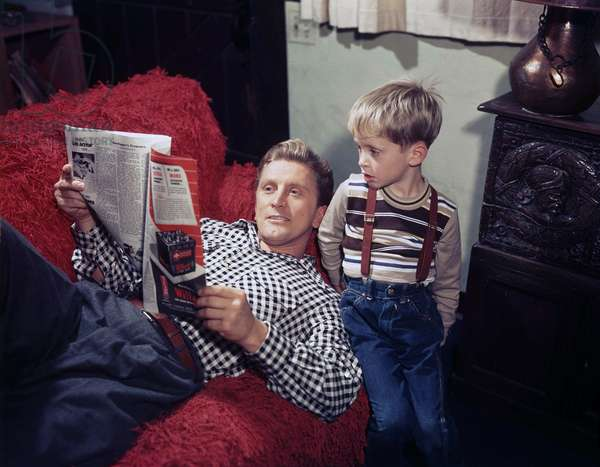 Kirk Douglas And His Son, U.S.A. Los Angeles 1949