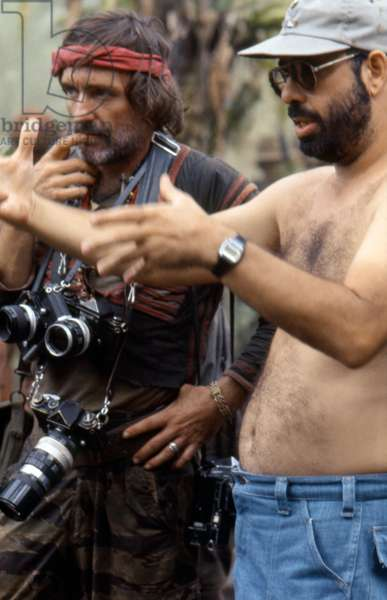 On The Set, Francis Ford Coppola Directs Dennis Hopper., Apocalypse Now 1979 Directed By Francis Ford Coppola