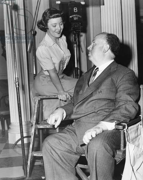 On The Set, Alfred Hitchcock And His Daughter Patricia.