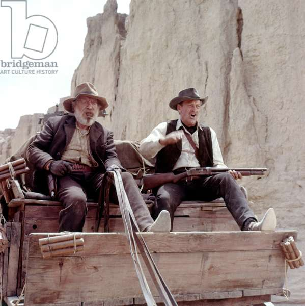 Edmond O'Brien And William Holden, The Wild Bunch 1969 Directed By Sam Peckinpah