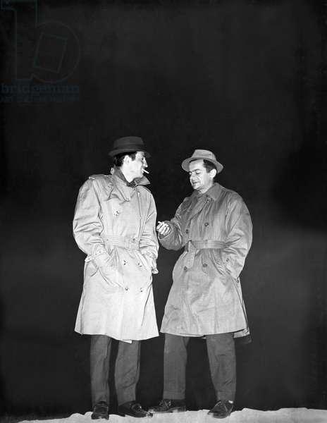 Jean-Paul Belmondo And Serge Reggiani, Le Doulos 1963 De Jean Pierre Melville