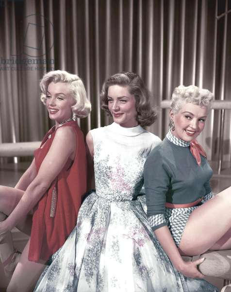 Marilyn Monroe, Lauren Bacall And Betty Grable.