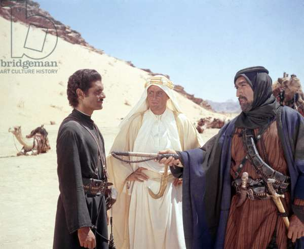Peter O'Toole, Omar Sharif And Anthony Quinn.