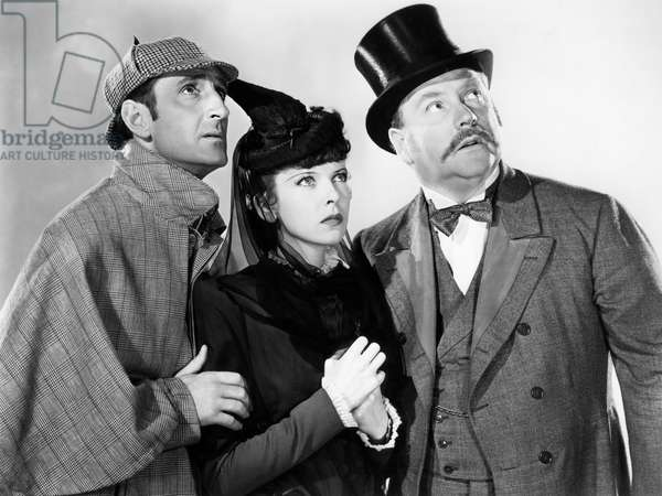 Basil Rathbone, Ida Lupino And Nigel Bruce., The Adventures Of Sherlock Holmes 1939 Directed By Alfred Werker