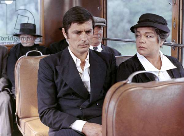 The Widow Couderc, by Pierre Granier Deferre with Alain Delon and Simone Signoret, 1971 (d'apres Georges Simenon) (photo)