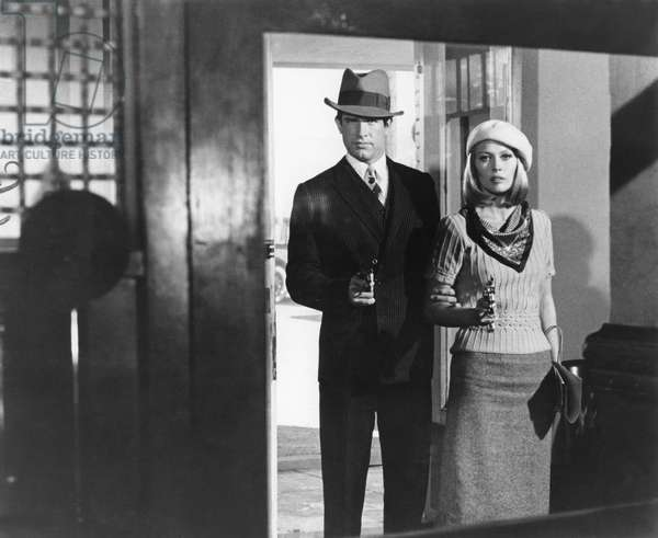 Warren Beatty And Faye Dunaway, Bonnie And Clyde 1967 Directed By Arthur Penn