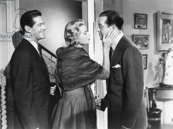Robert Cummings, Grace Kelly And Ray Milland., Dial M For Murder 1954 Directed By Alfred Hitchcock