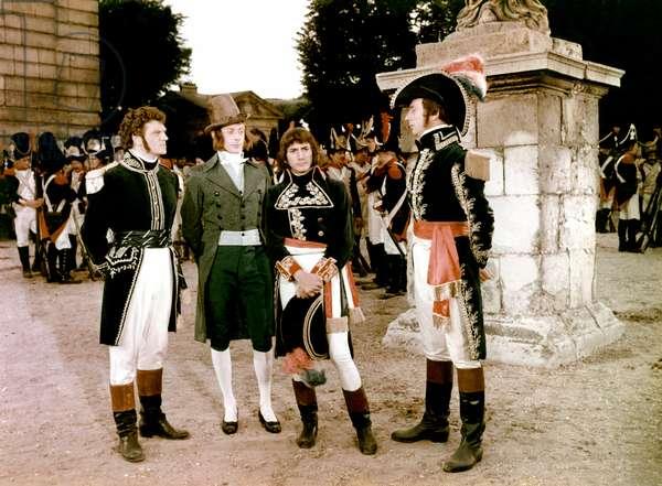 Henri Vidal, Bernard Deheran, Daniel Gelin And Yves Montand.