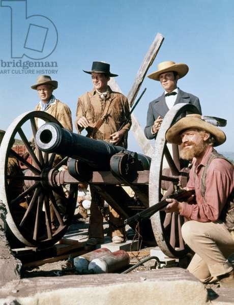 Richard Widmark, John Wayne And Laurence Harvey., The Alamo 1960 Directed By John Wayne