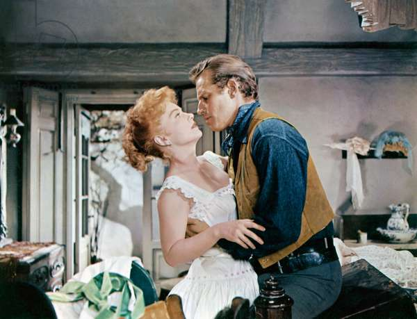 Anne Baxter And Charlton Heston, Three Violent People 1956 Directed By Rudoplh Mate
