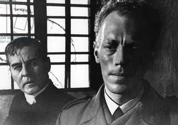 Gunnar Bjcrnstrand And Max Von Sydow, Les Communiants / Nattvardsgasterna 1962 Directed By Ingmar Bergman