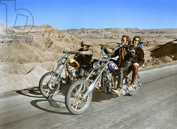 EASY RIDER, 1969 directed by DENNIS HOPPER Dennis Hopper and Peter Fonda (photo)