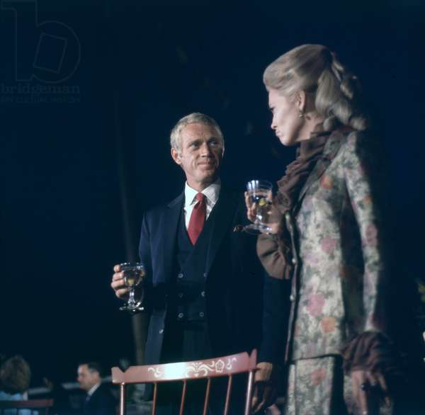Steve Mcqueen And Faye Dunaway, The Thomas Crown Affair 1968 Directed By Norman Jewison