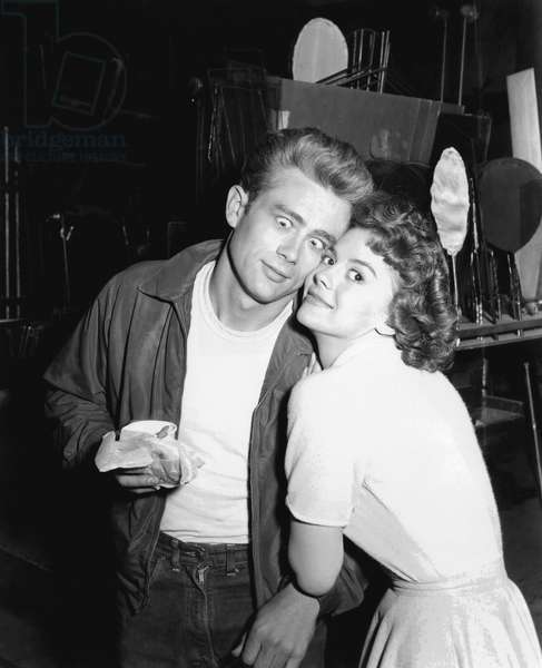 On The Set, James Dean With Natalie Wood.