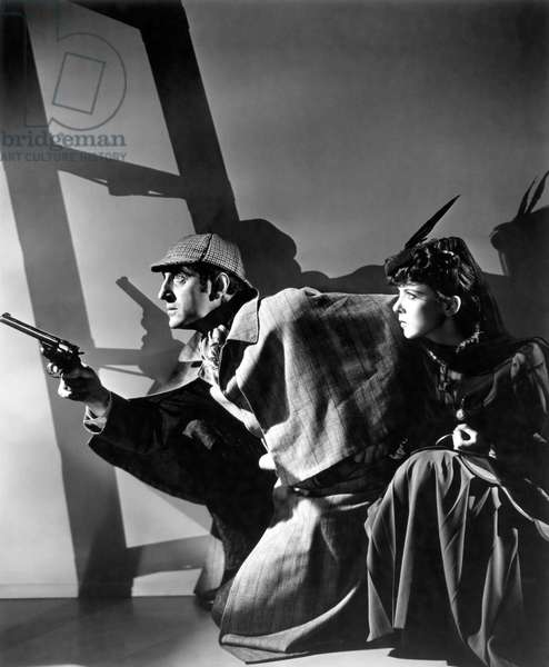 Basil Rathbone And Ida Lupino, The Adventures Of Sherlock Holmes 1939 Directed By Alfred Werker