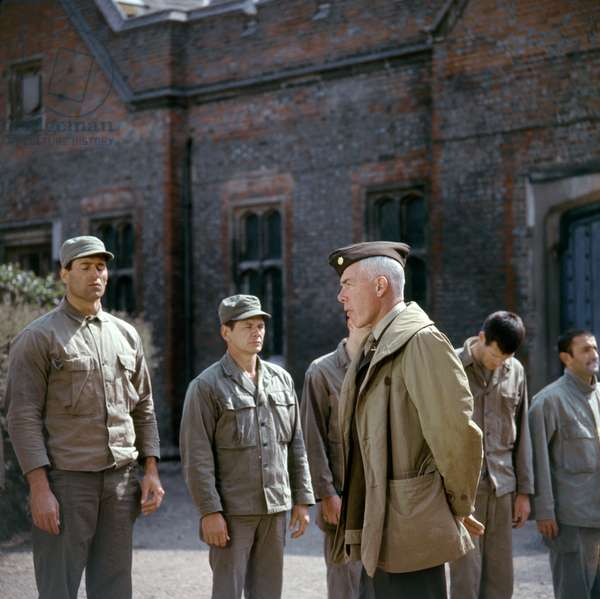 Clint Walker, Charles Bronson And Lee Marvin., The Dirty Dozen 1967 Directed By Robert Aldrich