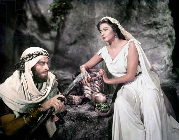 Charlton Heston And Yvonne De Carlo, The Ten Commandments 1956 Directed By Cecil B. Demille