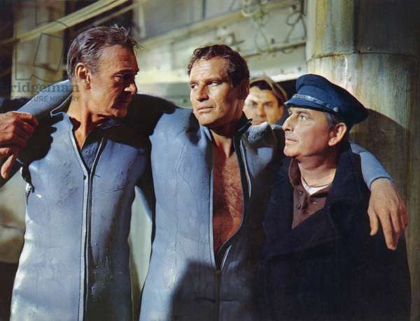 Gary Cooper And Charlton Heston, Wreck Of The Mary Deare 1959 Directed By Michael Anderson