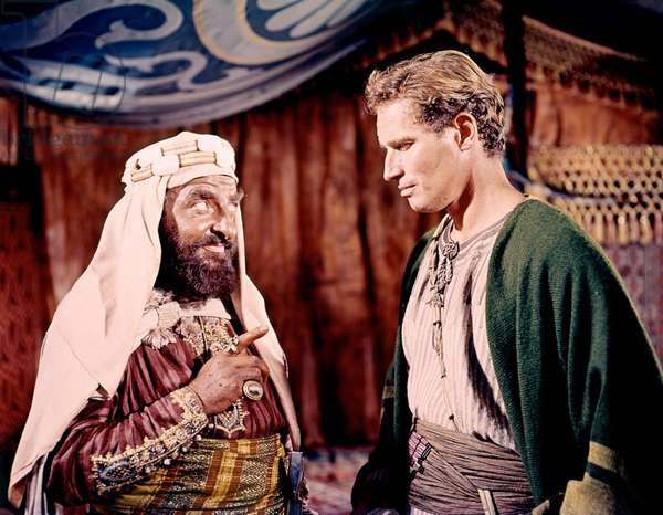 Hugh Griffith And Charlton Heston, Ben-Hur 1959 Directed By William Wyler