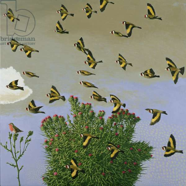 Goldfinches, 2003-04 (oil on canvas)