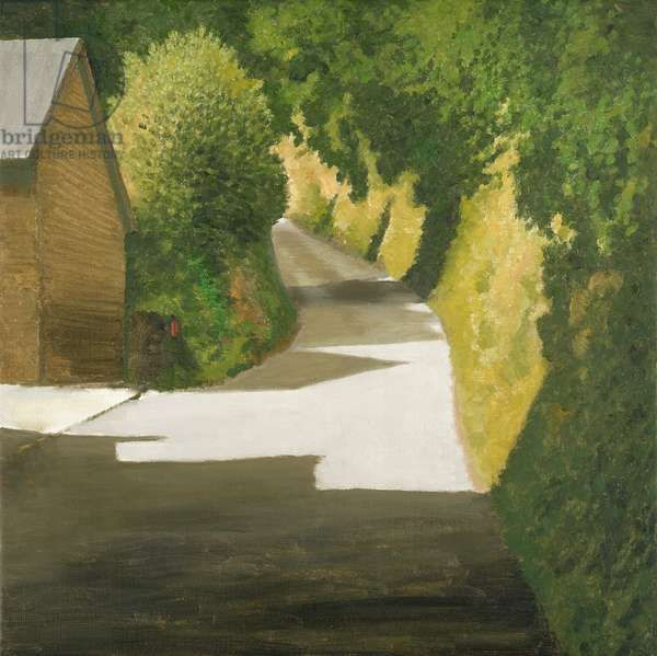 Little Birds Nest Lane, Clyro, 2004 (oil on canvas)