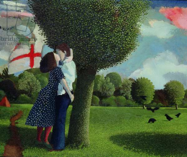 Lovers near Kew Gardens, 1976 (panel)