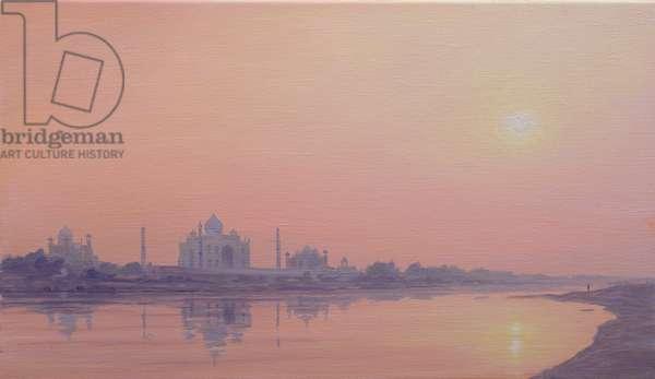 Sundown on the Yamuna (oil on canvas)                                                                          (