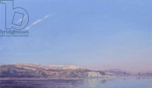 Dawn at Jaipur (oil on canvas)