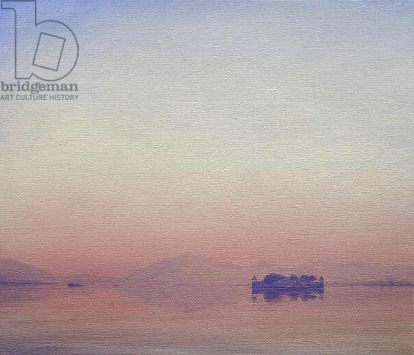 Dawn near Jaipur (oil on canvas)