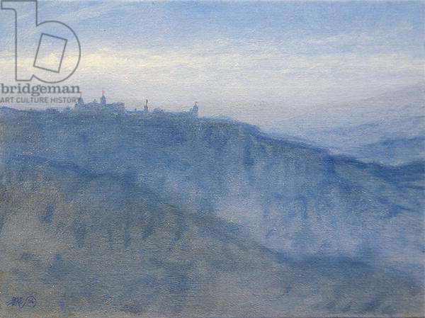 Hill Temple in Rajasthan (oil on canvas)