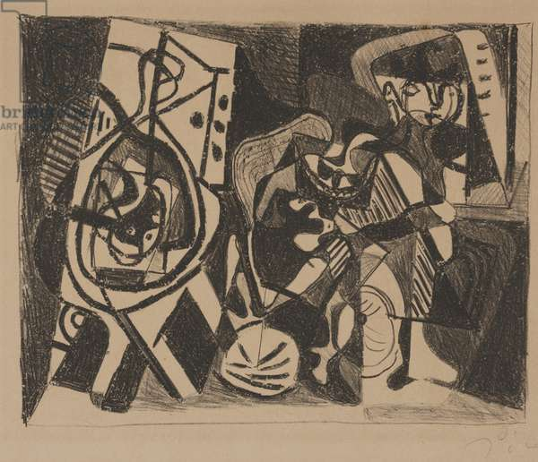 Scene d'Interieur, 1926 (litho on tinted wove paper)
