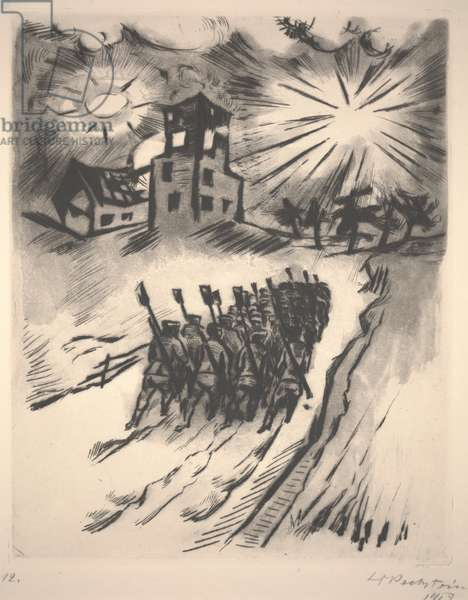 Somme, 1916, 1918 (etching)