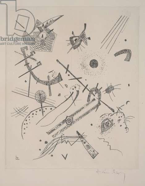Small Worlds XI (Kleine Welten XI), 1922 (etching & drypoint)
