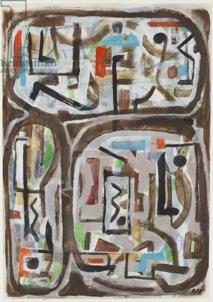 Vertical and Horizontal, 1964 (gouache on paper)