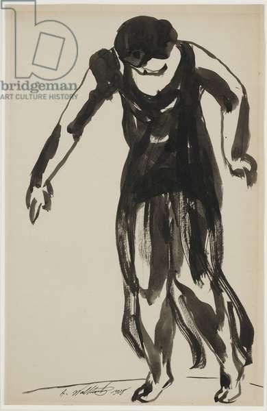 Isadora Duncan Dancing, 1908 (ink on paper)
