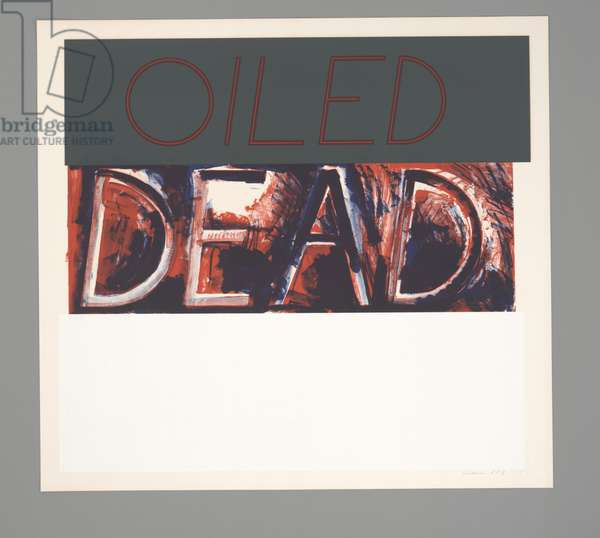 Oiled Dead (State), 1975 (four-color screenprint & two–-colour litho)