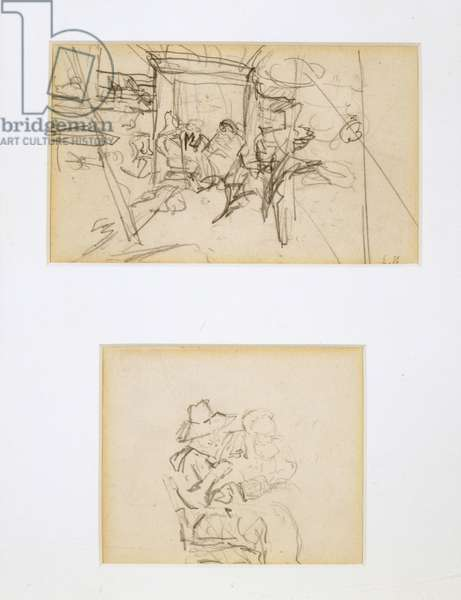 Two Studies for The Tent, 1908 (pencil)