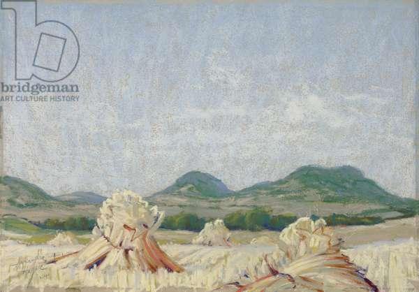 Harvest, 1924 (pastel on paper)
