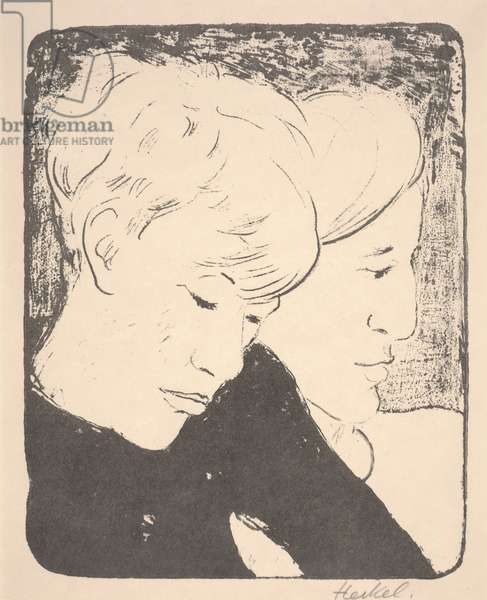 Siblings, 1929 (litho)